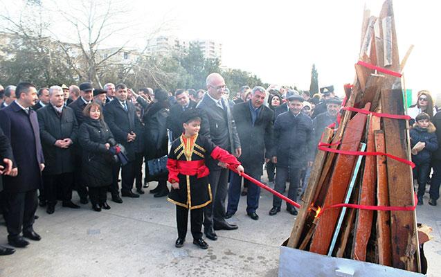 Nizami rayonunda Novruz bayramı qeyd edilib