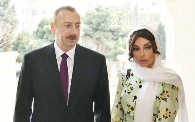 Prezident və xanımı məscidin açılışında