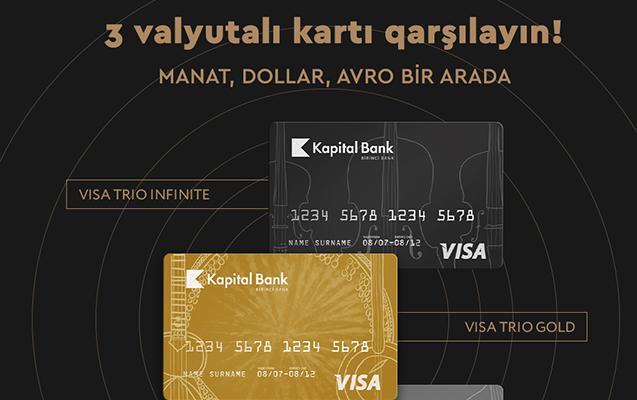 Manat, dollar və avronu birləşdirən kart