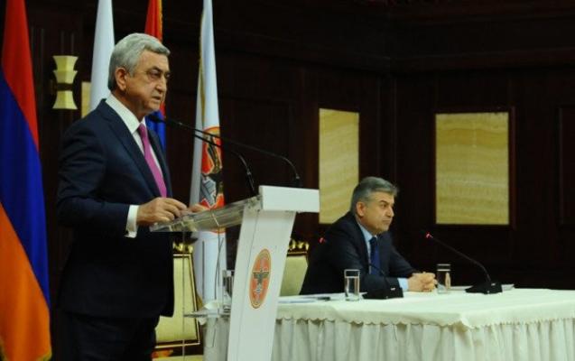 Sarkisyan Ermənistan baş nazirliyinə namizəd irəli sürüldü