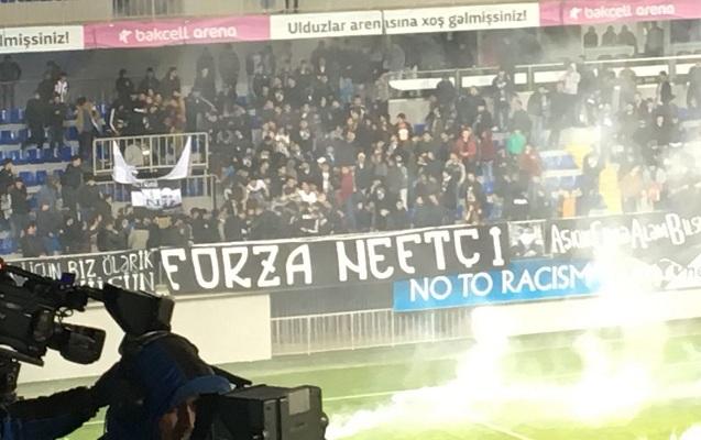 """""""Neftçi"""" fanatları ilə polislər arasında qarşıdurma"""