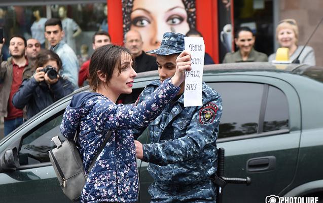 Ermənistanda bu gün 107 etirazçı saxlanılıb