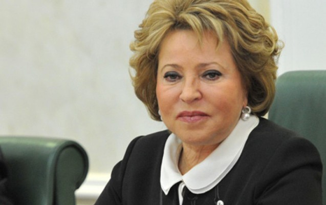 Valentina Matviyenko Azərbaycan prezidentini təbrik edib