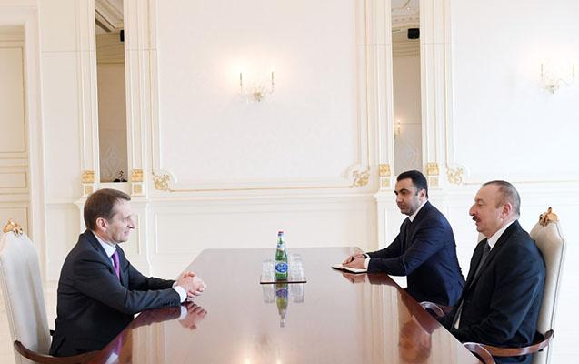 Prezident Xarici Kəşfiyyat Xidmətinin direktoru ilə görüşüb