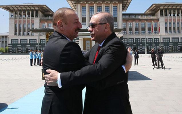 Əliyev Ərdoğanın iqamətgahında belə qarşılandı - Fotolar