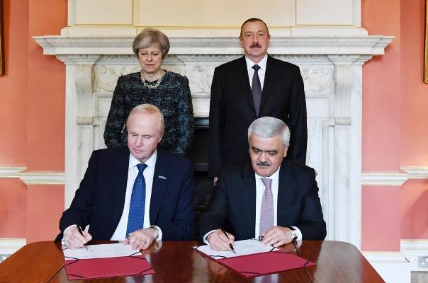Azərbaycanla İngiltərə arasında saziş imzalandı