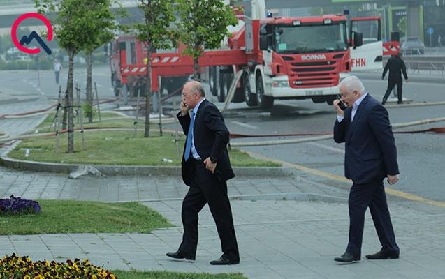 Kəmaləddin Heydərov yanan binaya gəldi