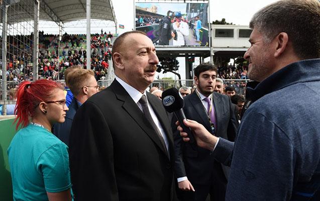 """""""Hamı yarışdan həzz alır"""" - İlham Əliyev"""