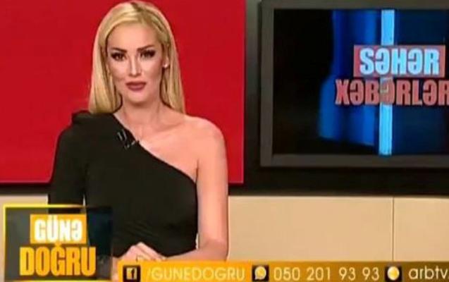 Türkiyəli müğənni Azərbaycan efirində aparıcılıq etdi - Video