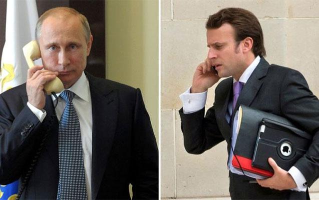 Putinlə Makronun telefon danışığı oldu