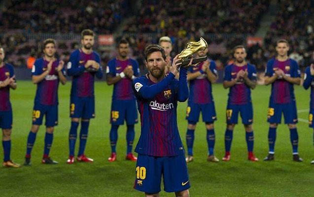 """Messi 5-ci dəfə """"qızıl buts"""" mükafatını qazandı"""