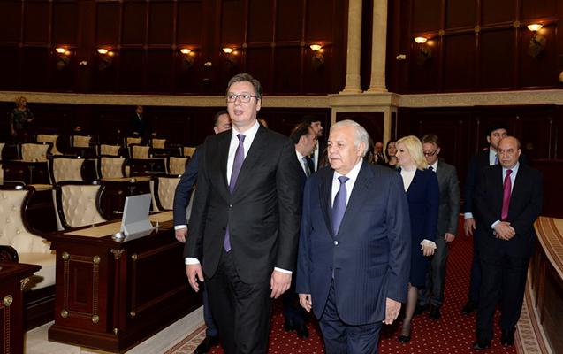 Serbiya prezidenti Milli Məclisdə olub