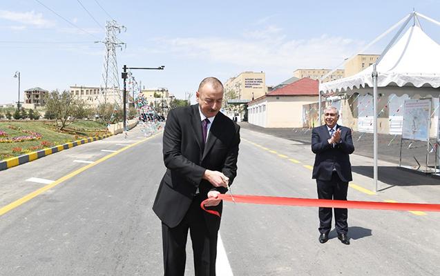 Prezident Lökbatan-Qobu yolunun açılışında