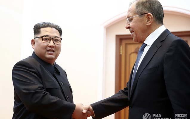 Lavrov Kim Çen Inla görüşüb