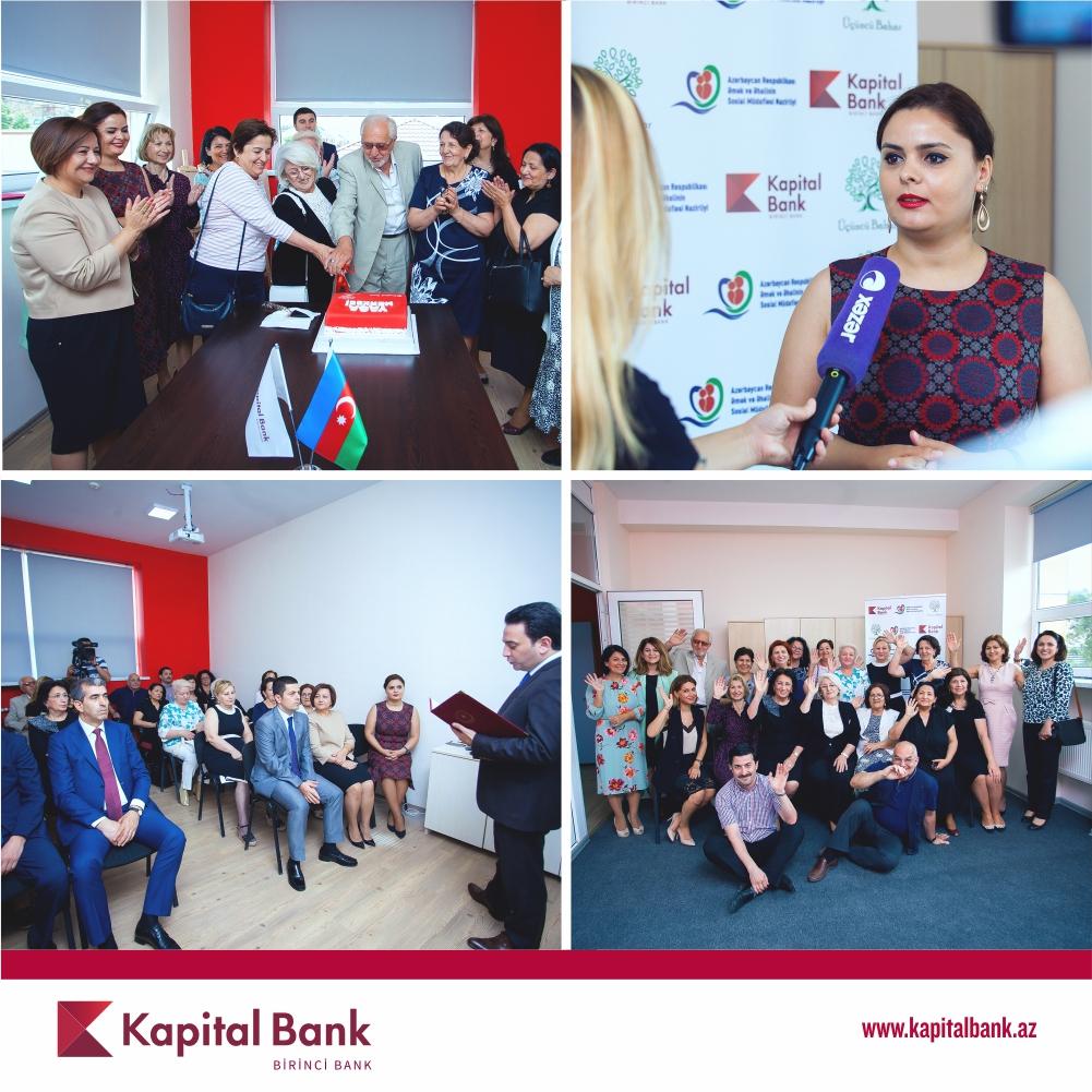 """Kapital Bank-ın dəstəyi ilə """"Yaşa"""" təqaüdçülər mərkəzi açıldı"""