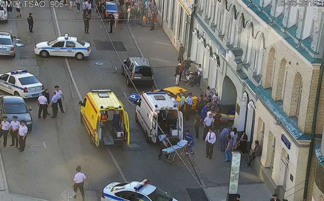 Moskvada avtomobil kütləyə çırpıldı