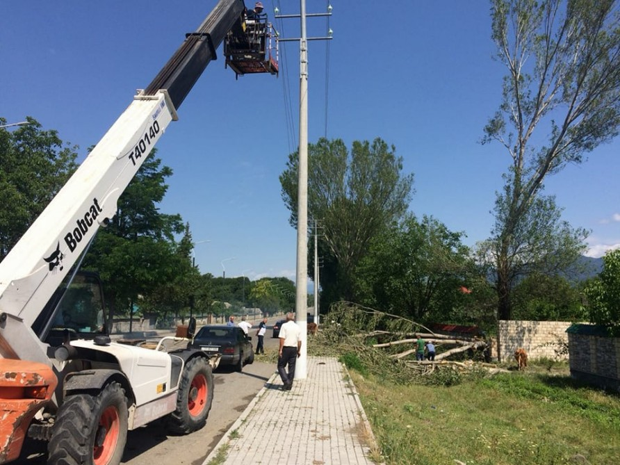 66 yaşayış məntəqəsində elektrik enerjisinin verilişi bərpa edilib