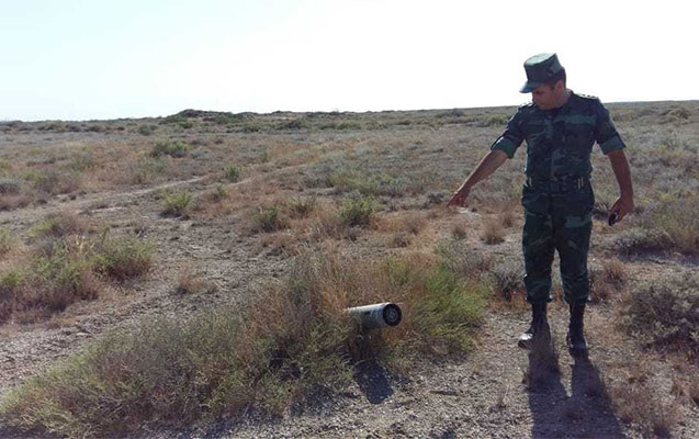 Parkın ərazisindən raket tapıldı