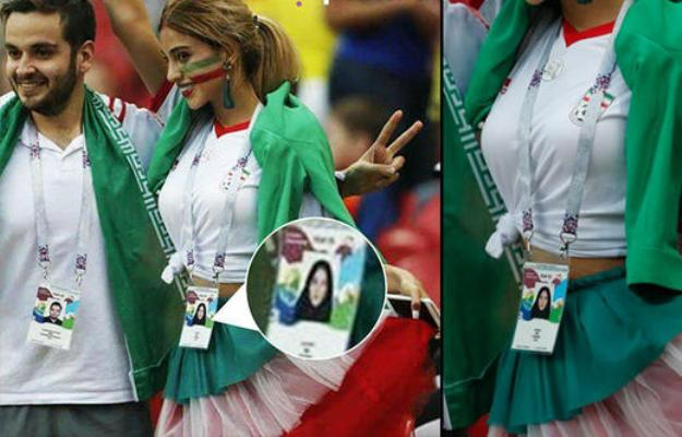 Futbol izləyən göbəyiaçıq iranlı qız tənqid olundu