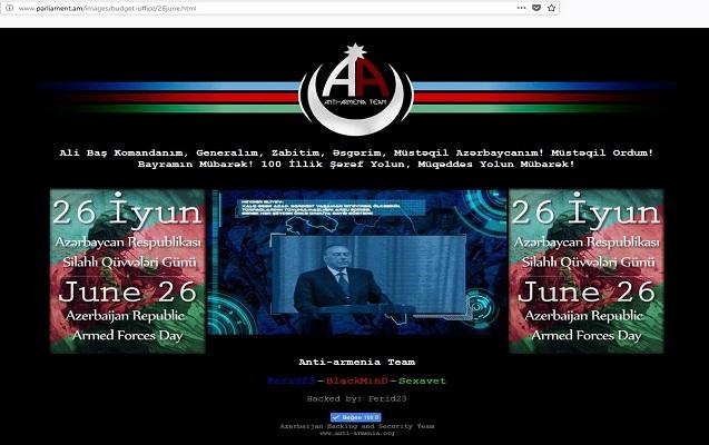 Azərbaycan hakerləri Ermənistan saytlarını dağıtdı
