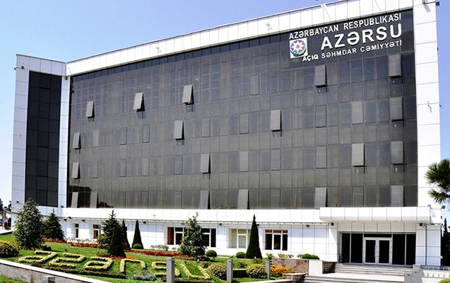 """Dəyəri milyonlarla olan əmlaklar """"Azərsu""""ya verildi"""