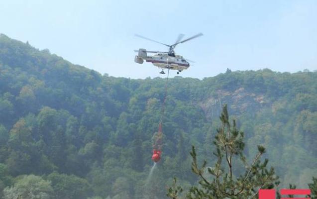 Yardımlıda meşə yanır - Helikopter cəlb edildi