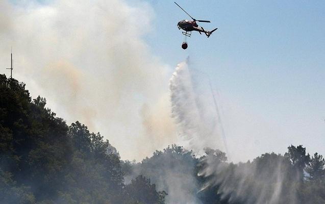 Samuxda güclü yanğın başladı - Helikopter göndərildi