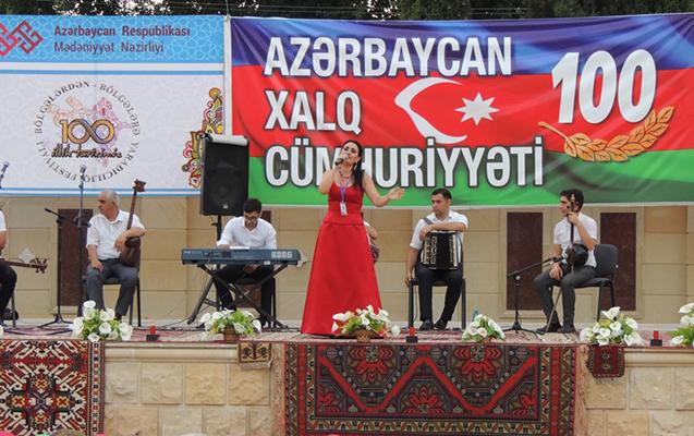 """""""Bölgələrdən bölgələrə"""" festivalı Ağdamda"""