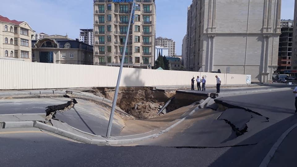 Çökən yoldakı tunelin nə olduğu bilindi