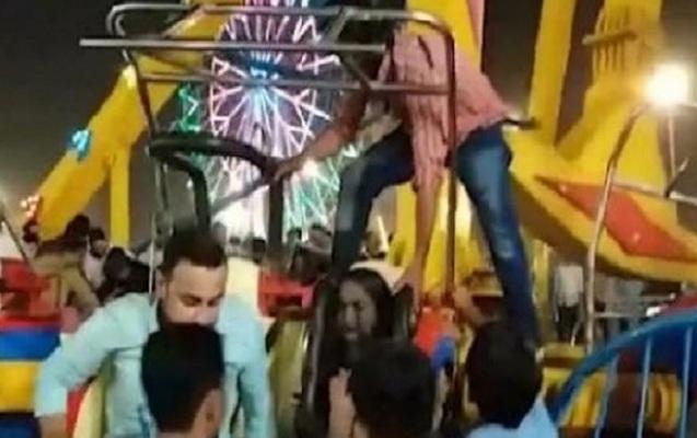 Pakistanda lunaparkda faciə