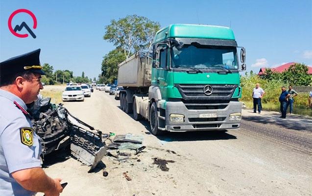Quba yolunda avtobus qəzası - Ölən və yaralanan var + Video