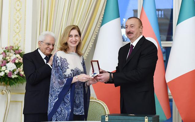 """Əliyev prezidentin qızına """"Şöhrət"""" ordeni verdi"""