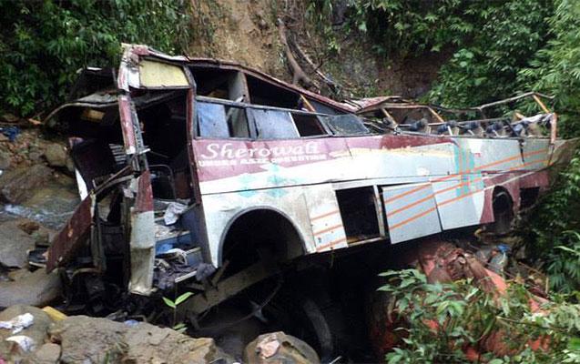 Hindistanda avtobus qəzası, 14 ölü