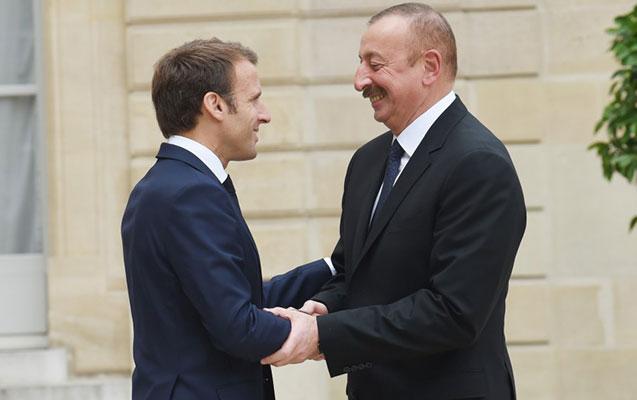 İlham Əliyev Fransa prezidenti ilə görüşdü
