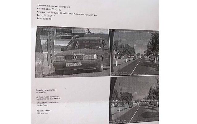 Azərbaycanda yol polisi radara düşdü - Protokol başqasına yazıldı