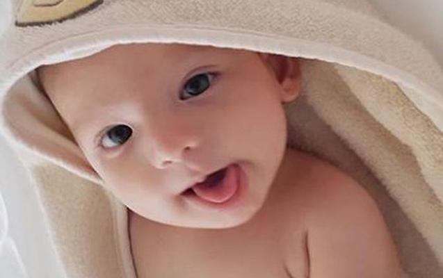 Bu da Özcanın 4 aylıq oğlu