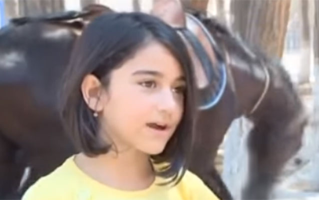 4 yaşından at çapan Gülay