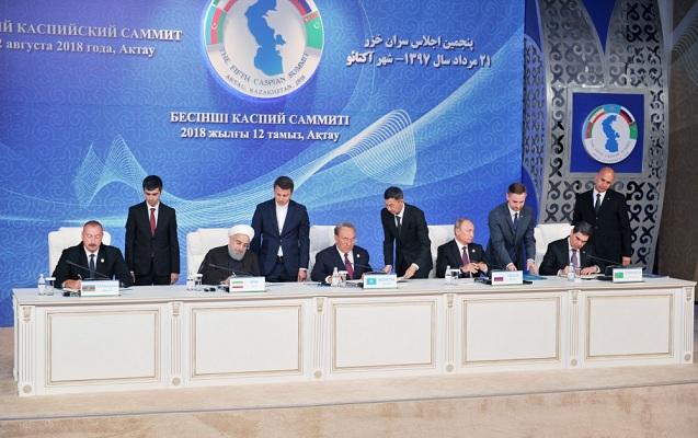 Prezidentlər Xəzər dənizinin hüquqi statusuna dair Konvensiyanı imzaladı