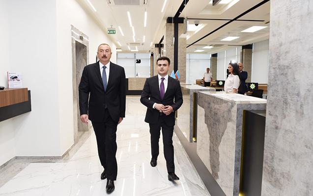 Prezident Logistika Mərkəzinin açılışında
