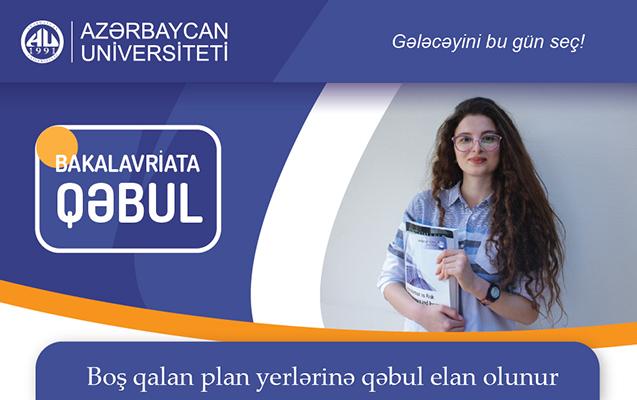 Azərbaycan Universiteti boş qalan plan yerlərinə qəbul elan edir