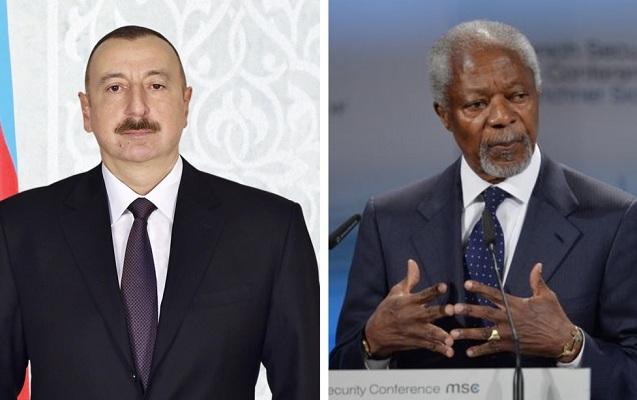 İlham Əliyev Kofi Annan haqqında