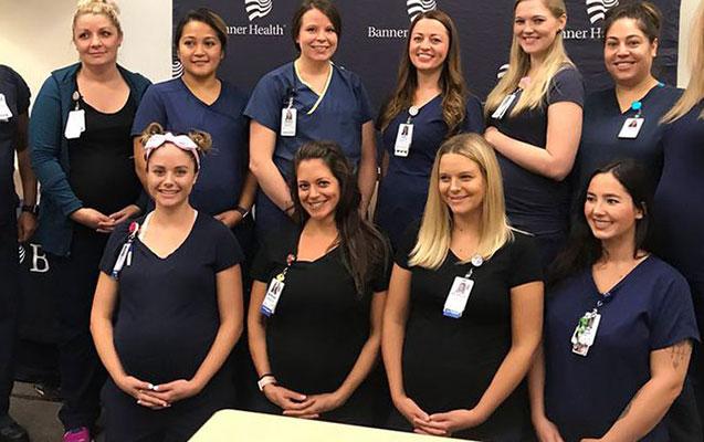 Xəstəxananın 16 tibb bacısı eyni vaxtda hamilədir