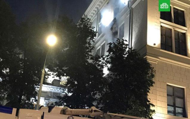 Rusiya Mərkəzi Bankında yanğın - Video