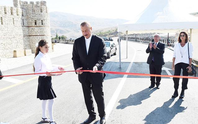 Dəmirçi-Lahıc yolunun rəsmi açılışı oldu