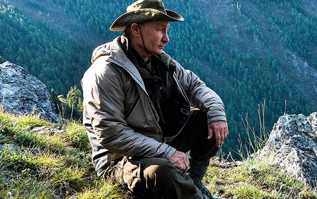Putin bu dəfə turist kimi - Fotolar