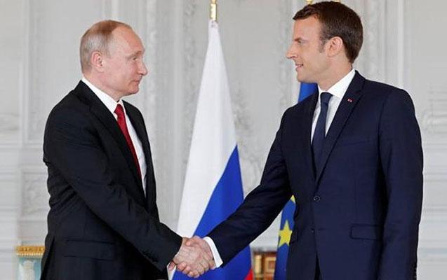 Makron Putinlə görüşmək qərarına gəlib