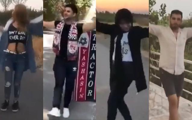 İranda azərbaycanlı gənclərin fləşmobu