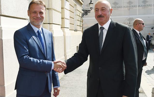 Əliyev Xorvatiyada daha bir görüş keçirdi - Fotolar