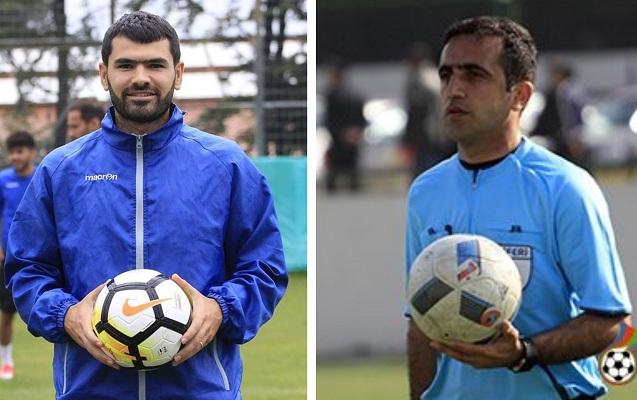 Azərbaycanda futbolçudan hakimə