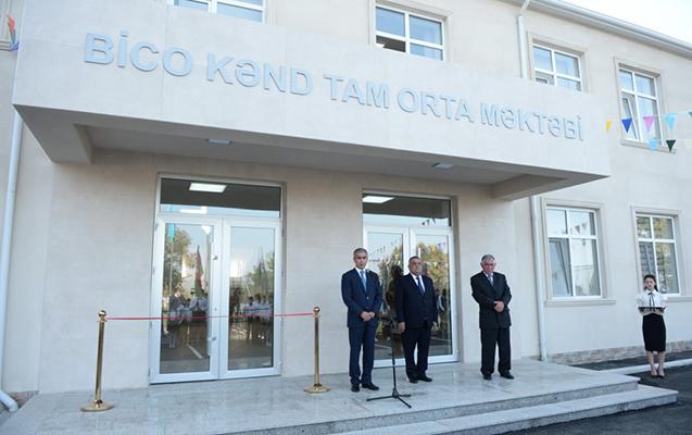 Heydər Əliyev Fondu tərəfindən tikilən məktəbin açılışı oldu
